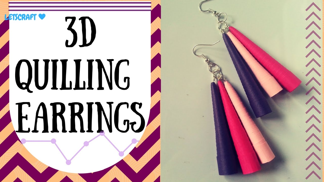 how to make long earrings