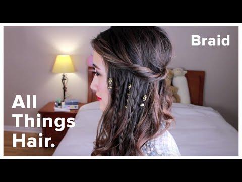 Boho 70s Braids With Cerine Babyy All Things Hair Tutorial Youtube