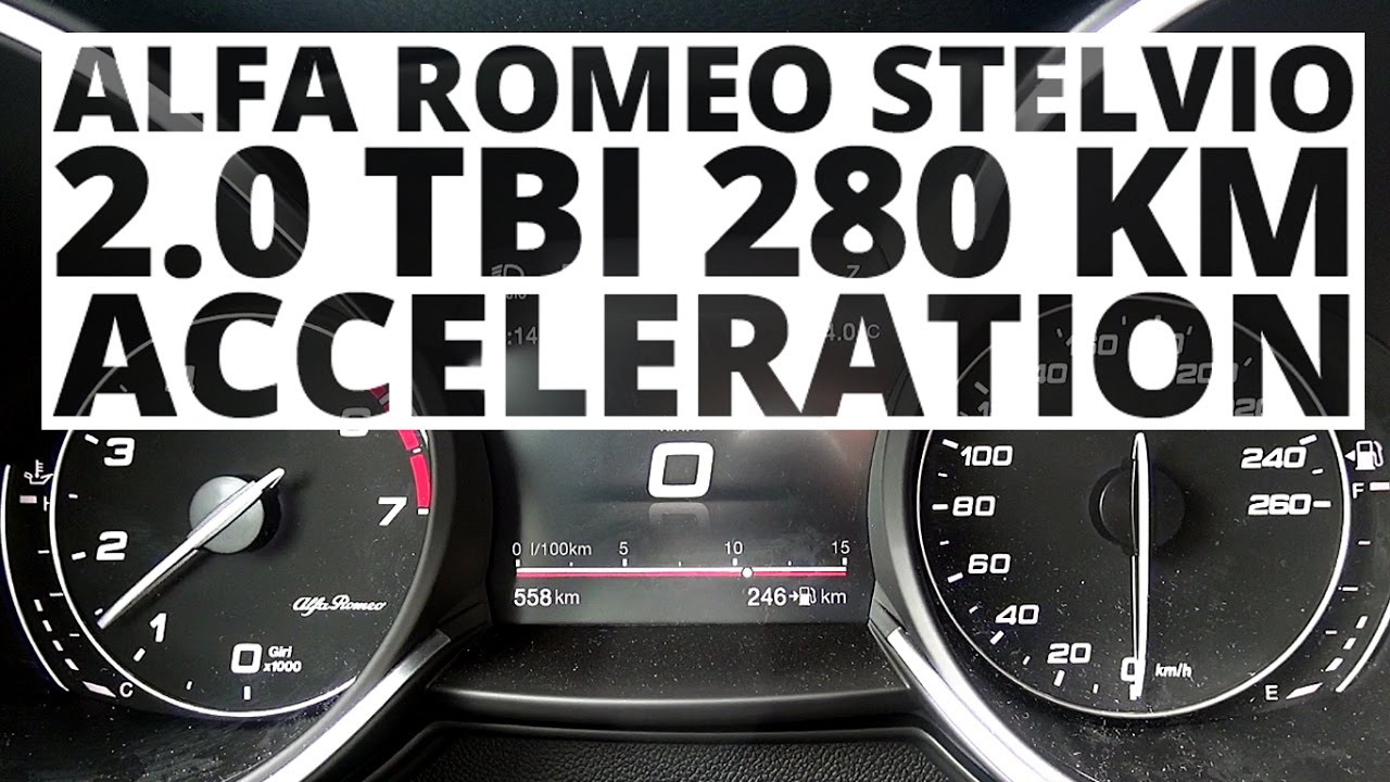 Alfa Romeo Stelvio Q4 2.0 TBi 280 hp (AT) – acceleration 0-100 km/h