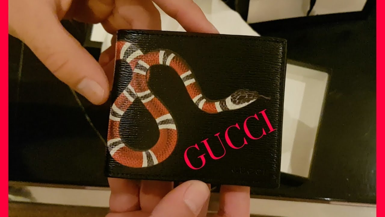 5811e0dffc2f NEW GUCCI SNAKE WALLET UNBOXING - YouTube