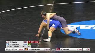 157lbs: Ben Anderson (Duke) fall Alexander Klucker (Lock Haven) YouTube Videos