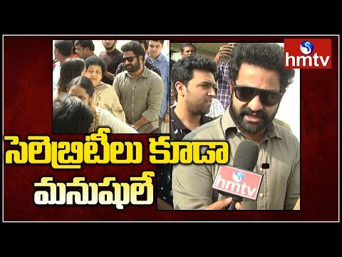 Jr NTR New Look !! | Jr NTR Face To Face | Telangana Elections 2018 | hmtv