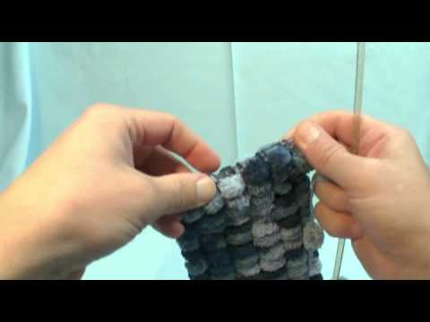 Free Crochet Patterns Using Pom Pom Yarn : How To Knit with Pom Pom Yarn - YouTube
