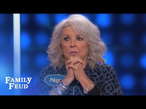 Paula Deen goes SOUTH with HER ANSWER... | Celebrity Family Feud | OUTTAKE