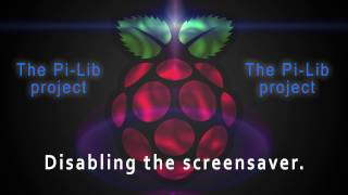 pi lib server disabling the screensaver