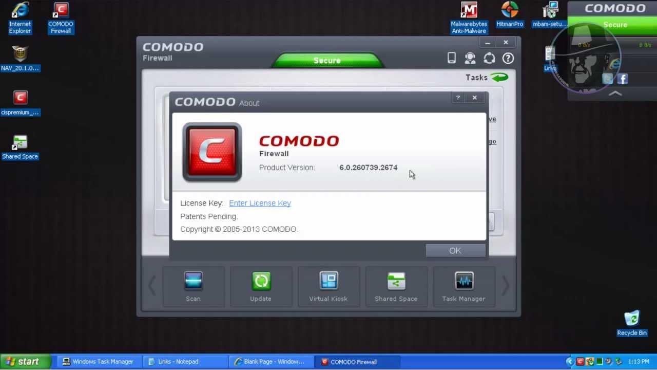 comodo firewall kaspersky antivirus