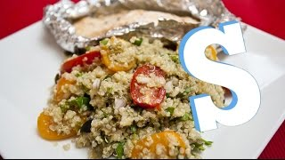 Quinoa Salad With Baked Salmon Recipe - Sorted