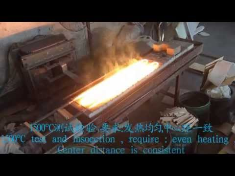 The technology process of JinYu Molybdenum disilicide Heating element