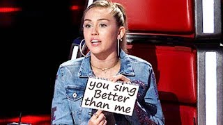 Download Best Wrecking Ball COVERS on The voice Mp3 and Videos