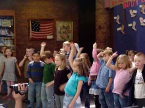 One Small voice sung by kids at Eagle, Elementary.