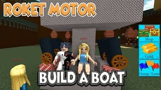 Unsinkable Ship Rocket Engine Installed !! / Build A Boat For Treasure / Roblox English / Practical Game