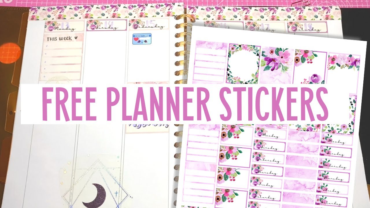 JULY PLAN WITH ME | FREE Printable Planner Stickers |  Weekly Spread Layout