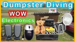 Found Electronics Dumpster Diving #252 WOW SO AMAZING