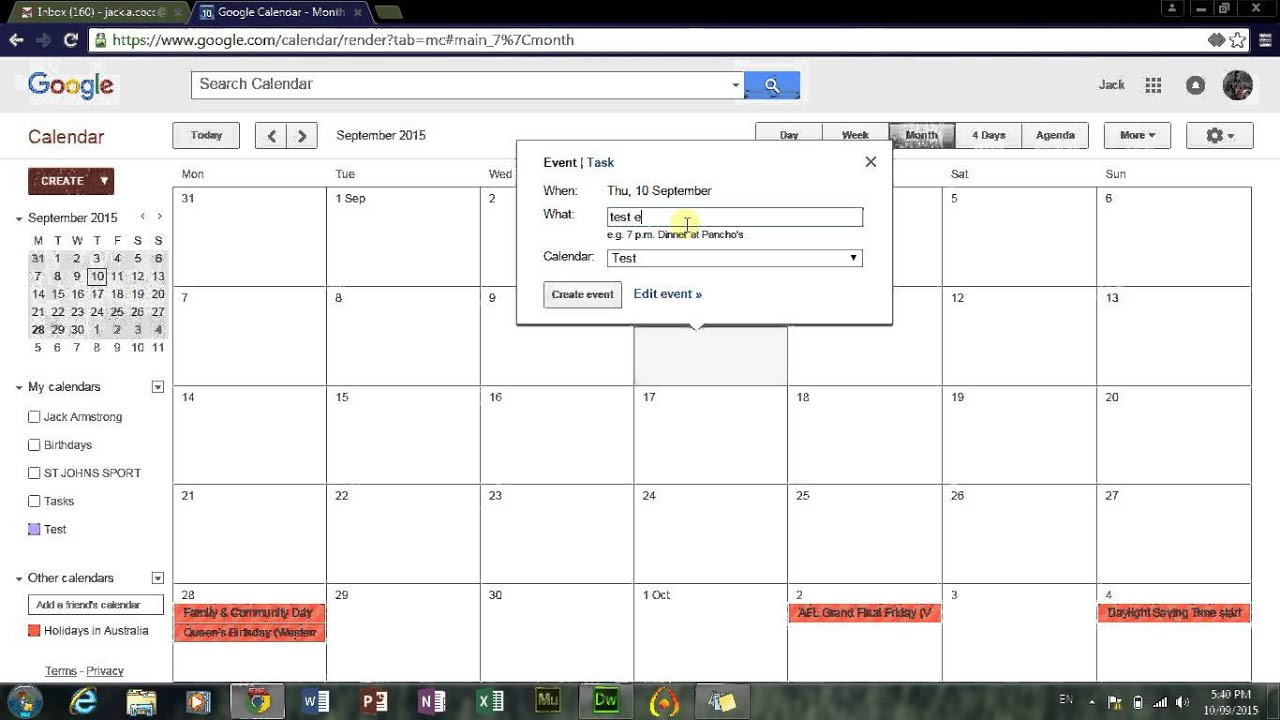 How To Add A Calendar To A Webpagedreamweavernotepadhtml Youtube