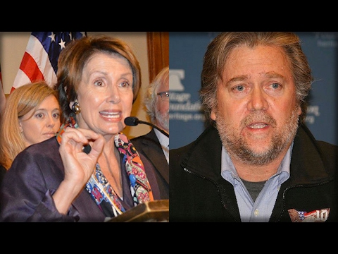 NANCY PELOSI HAS LOST IT! WHAT SHE JUST SAID ABOUT STEVE BANNON SHOULD GET HER FIRED!