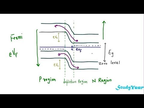 Reverse and Forward biased PN Junction & Fermi Level