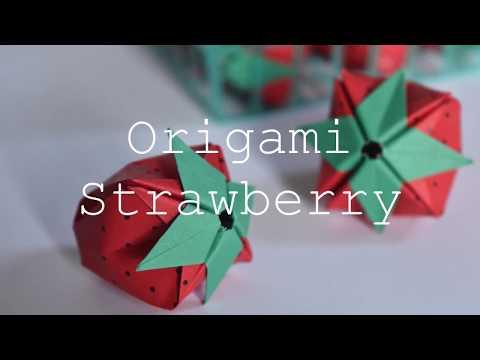 Origami Strawberry Tutorial