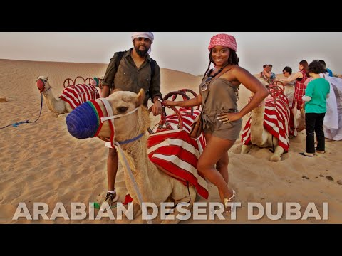 DUBAI VLOG: DESERT SAFARI | CAMEL BACK RIDING | DESERT CAMP BBQ