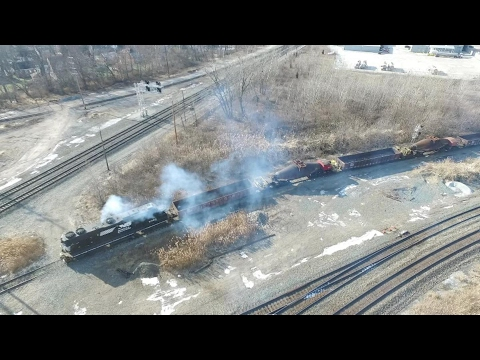 Long Molten Metal Train! (With Drone Footage)