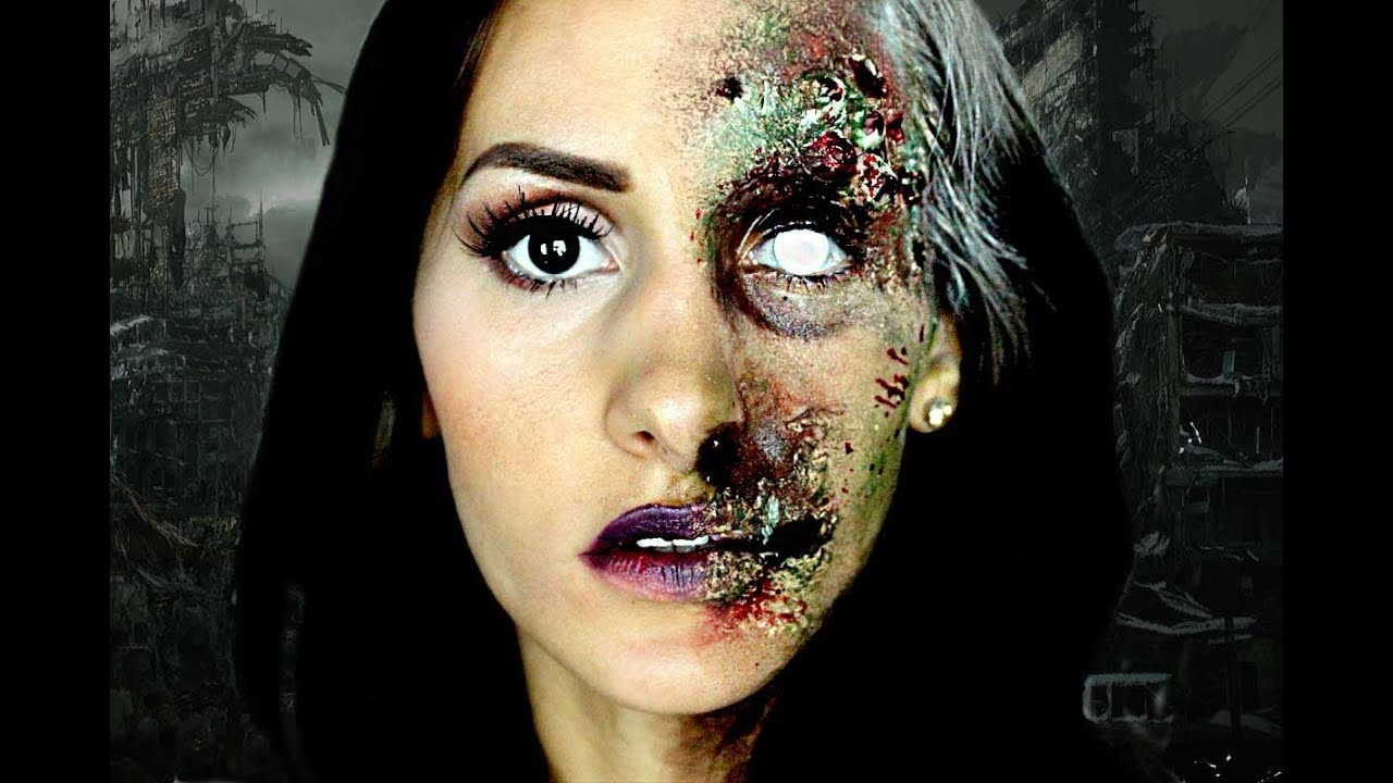 SEPTIC ZOMBIE - Halloween makeup tutorial - YouTube