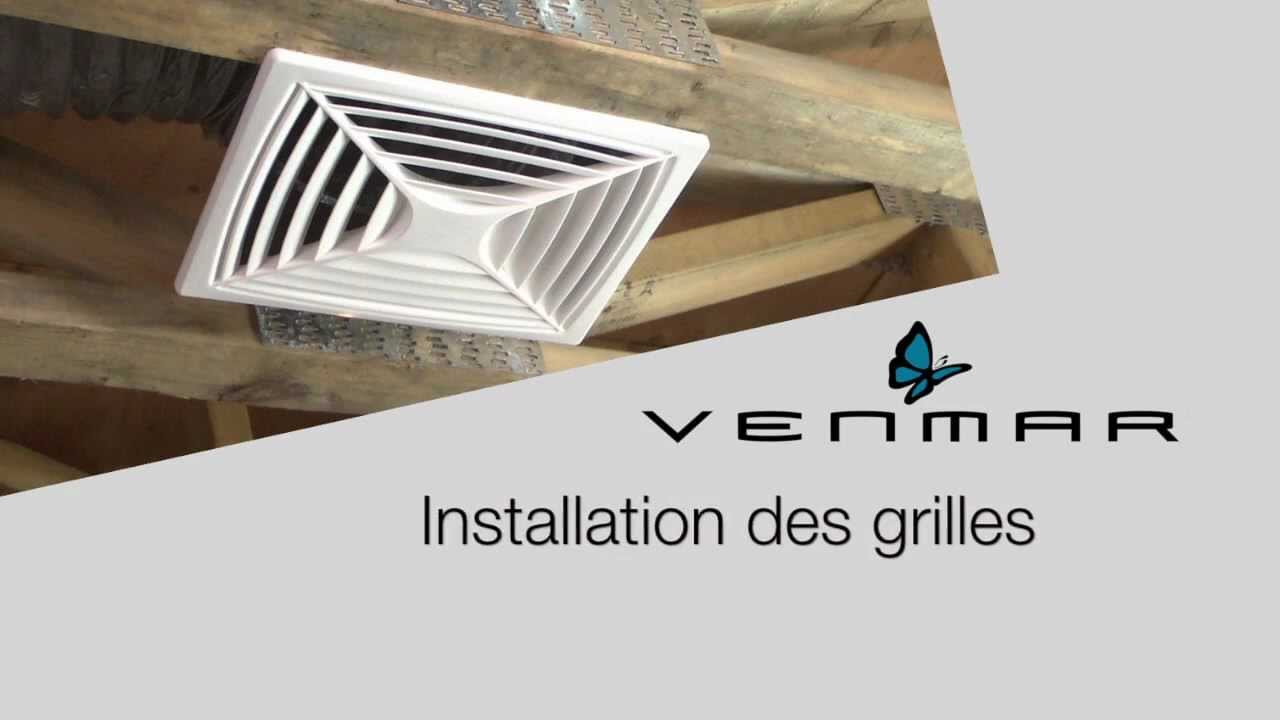 Installation des grilles d 39 a ration d 39 un changeur d 39 air for Installer grille aeration fenetre