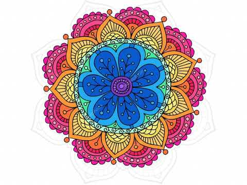 Mandala coloring games - Coloring book for adults - Apps on Google ...