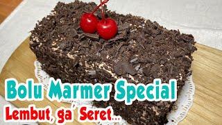 BOLU MARMER ANTI GAGAL    TIDAK SERET.. LEMBUT SEPERTI KAPAS    MARBLE CAKE    RESEP BOLU MARMER   