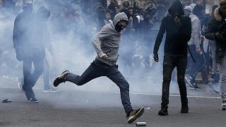 Scuffles in Paris after demo for Theo