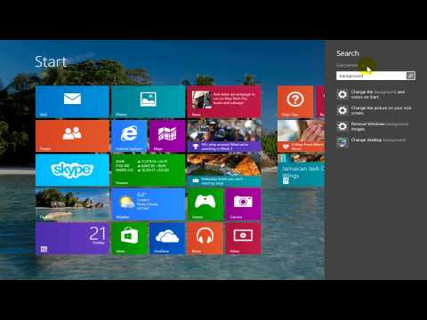 How to change lock screen background in windows 8