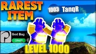 REACHING LEVEL 1000 & MAKING GOD BAGS!   Roblox: Booga Booga