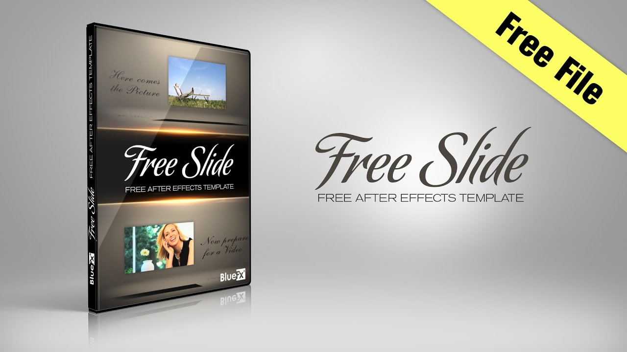 Free Slide After Effects Template BlueFX YouTube - Editable after effects templates