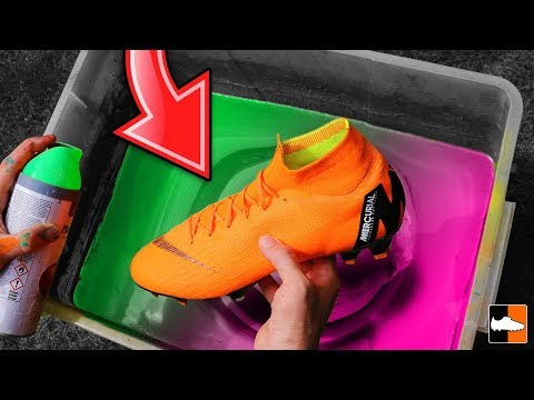 How To Hydro Dip Football Boots! ⚽ CR7 Soccer Cleats