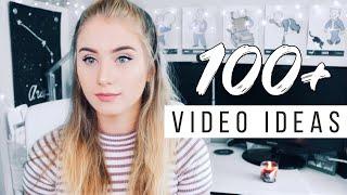 100 Popular YouTube Video Ideas!
