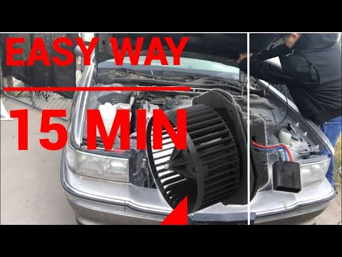 How to install blower motor the easy way 1995 Cadillac deville 4.9 custom Cadillac build