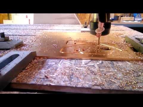 Листовая латунь ЛС59-1, 3 мм. Раскрой и 2.5 D фрезерование