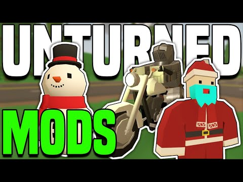 KNIGHTS??, EPIC BIKES AND CHRISTMAS!! (Unturned Mods Showcase)
