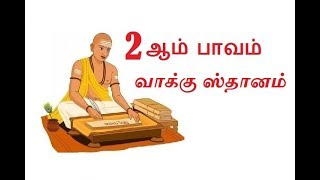 இரண்டாம் பாவம், வாக்கு ஸ்தானம், தான  ஸ்தானம், குடும்ப ஸ்தானம் | Astro Mani