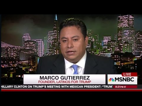 """Latinos for Trump founder Marco Gutierrez says we will have """"taco trucks on every corner"""""""