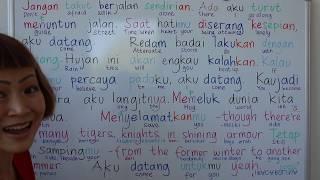 LEARN INDONESIAN THROUGH SONG   AKU DATANG UNTUKMU Jikustik feat. Lea Simanjuntak   EXTRA TRANSLATE