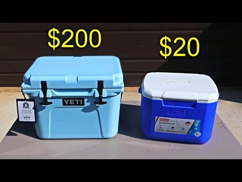 $200 Cooler vs $20 Cooler Ice Test
