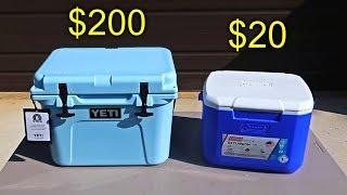 $200 Cooler vs $20 Cooler Ice Test
