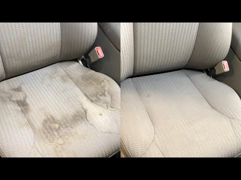 Heavy seat cleaning with a hot water extractor