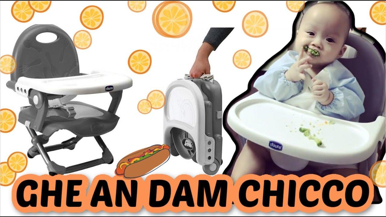 Kinh nghiệm chọn ghế ăn dặm – Đánh giá Ghế Ăn Chicco Pocket Snack Plus