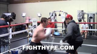 CANELO ALVAREZ SHOWS OFF DEVASTATING LEFT HOOK; KILLS THE BODY DURING INTENSE TRAINING