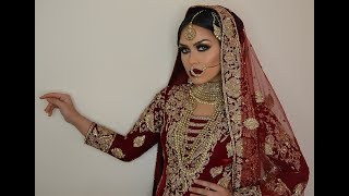 Traditional Pakistani Indian Bride Super Glam and Flawless Base Salma Akhtar MUA