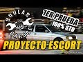 1er Prueba - Escort AP 1.8 100% STD - 1/4 de milla - Soulas Garage
