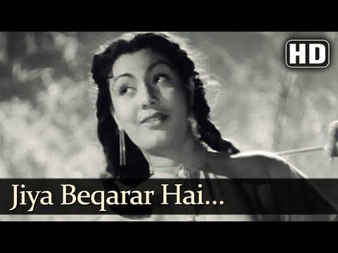 Nargis Superhit Song - Jiya Beqarar Hai - Barsaat (1949) - Raj Kapoor -  Popular Bollywood Song