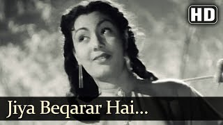 Nargis Superhit Song - Jiya Beqarar Hai - Barsaat (1949) - Raj Kapoor -  Popular Bollywood Song