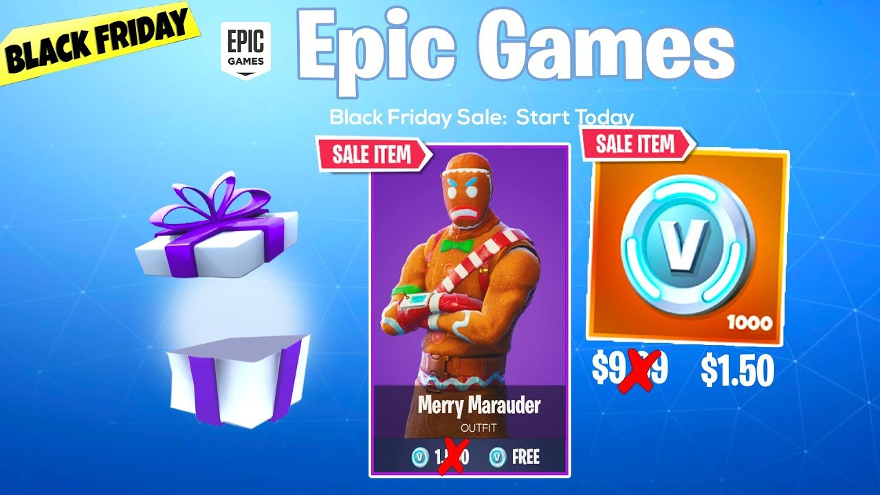 Fortnite SKIN and VBUCK Black Friday ITEM SHOP SALE...