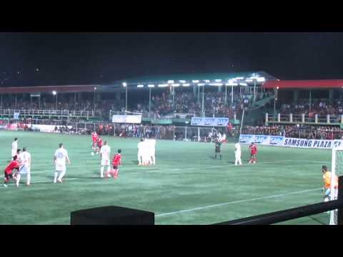 Mizoram XI vrs Hoffeinheim-Reuben-a free kick